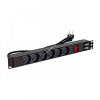 Linkbasic power bar 1U for 19'' rack cabinets - 6 outlets