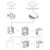 Linkbasic rack wall-mounting cabinet 19\'\' 9U 600x450mm black (steel front door)