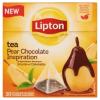 LIPTON csokoládés körte ízesítésű fekete tea 20 piramis filter