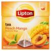 LIPTON őszibarack-mangó fekete tea 20 piramis filter