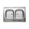 LIVINOX N114K kétmedencés teletetős mosogató