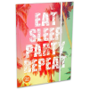 Lizzy Card Eat Sleep Party Repeat gumis mappa - A4