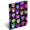 LizzyCard Notesz papírfedeles A/6 Lollipop Dark Owl 17405522