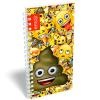 LizzyCard Notesz spirál közép Emoji Poop 17520101
