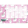 LizzyCard Órarend- Lollipop- Drama lama pink -