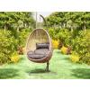 Logé Garden ALANISDG függő fotel sötét szürke színben - bézs kosárral