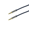 LogiLink Audio Cable 3.5 Stereo M/M, straight, 0.75 m, blue