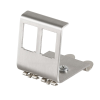 LogiLink Keystone DIN-Rail Adapter for 2 RJ45 Modules, metal