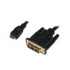 LogiLink MINI-HDMI APA – DVI-D KÁBEL APA, 0.5 M (CHM001)