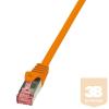 LogiLink patch kábel, Cat.6 S/FTP PIMF PrimeLine narancssárga 1,5m