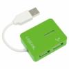 LogiLink Smile USB 2.0 4 portos hub zöld