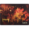 LogiLink Ultra thin Glimmer Gaming Mauspad, wolf design
