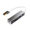 LogiLink - USB 3.0 hub; 3 port; with card reader