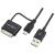 LogiLink USB A USB micro B iPhone USB adatkábel 1m fekete