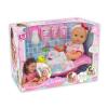Loko Loko pisilő baba fürdőkáddal, tisztálkodószerekkel és cumisüveggel