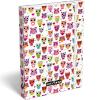 Lollipop: Színes baglyok A4-es füzettartó doboz – fehér