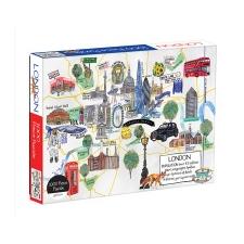 London Map 1000 Piece Puzzle – Hennie Galison idegen nyelvű könyv