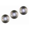 Lucide 11862/23/31OUTDOOR 6-LED white set 3x spot built in round D6,