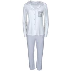 Luisa Moretti A női pizsama CLAUDIA bambuszból S Krém szín-silver / Cream-silver