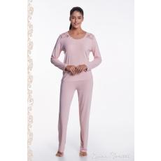 Luisa Moretti PAOLA női pizsama bambuszból S Rózsaszín / Pink