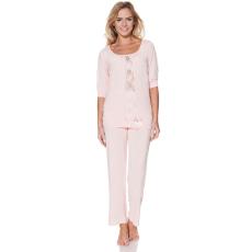 Luisa Moretti SERENA női pizsama bambuszból L Rózsaszín / Pink