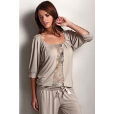 Luisa Moretti SERENA női pizsama bambuszból S Bézs / Beige