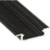 Lumines Alu profil eloxált (Type-Z) fekete, átlátszó