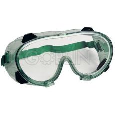 Lux Optical® Chimilux védõszemüveg, gumipántos, vegyszerálló polikarbonát, oldalszellõzõ gombokkal