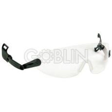 Lux Optical® Peltor V6 sisakszemüveg, állítható szárú, víztiszta lencsével
