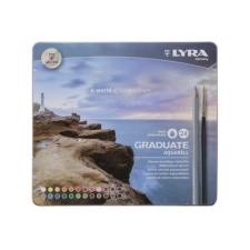 Lyra Színes ceruza LYRA Graduate Aquarell hatszögletű fémdoboz 24 db/készlet színes ceruza