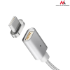 MACLEAN Maclean MCE178 Metal magnetic data cable 1m USB Type-C Quick&Fast Charge silver