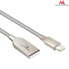 MACLEAN Maclean MCE191 Cable USB Lightning iPhone metal silver Quick & Fast Charge