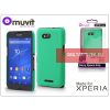 Made for Xperia MUVIT Sony Xperia E4G (E2003) hátlap - Made for Xperia Muvit Soft Touch - green
