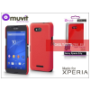 Made for Xperia MUVIT Sony Xperia E4G (E2003) hátlap - Made for Xperia Muvit Soft Touch - red