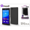 Made for Xperia MUVIT Sony Xperia Z5 Compact (E5803) hátlap - Made for Xperia Muvit Soft Touch - black