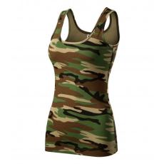 Malfini Adler Camouflage dámske tielko, brown 180g/m2