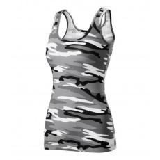 Malfini Adler Camouflage dámske tielko, gray 180g/m2