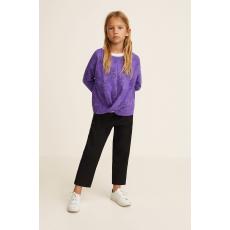 Mango Kids - Gyerek nadrág Noir 110-164 cm - fekete - 1381139-fekete