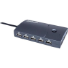 "MANHATTAN USB elosztó-HUB, 13 port, MANHATTAN ""Hi-Speed USB Desktop Hub"", fekete"