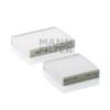 MANN FILTER CU21000-2 Pollenszűrő PEUGEOT 207, 208, 2008, CITROEN C3 II, DS3