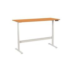 Manutan irodai asztal, elektromosan állítható magasság, 180 x 80 x 62,5 - 127,5 cm, egyenes kivitel, ABS 2 mm, bükk irodabútor