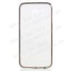 Mûanyag védõ tok / hátlap - szilikon szegély - ÁTLÁTSZÓ / SZÜRKE - SAMSUNG SM-G920 Galaxy S6