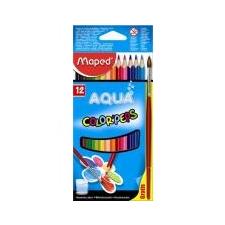 """MAPED Akvarell ceruza készlet, háromszögletű, ecsettel, MAPED \""""Color`Peps\"""", 12 különböző szín [12 db] akvarell"""