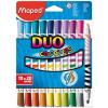 MAPED COLOR PEPS DUO mosható filctoll, 10 db/doboz (20 szín)