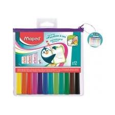 """MAPED Filctoll készlet, 1,5 mm, kimosható, fehértáblához, MAPED \""""Marker`Peps, 12 különböző szín [12 db] filctoll, marker"""