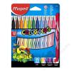 MAPED Filctoll készlet, 2,8 mm, kimosható, MAPED Color`Peps Jungle, 12 különböző szín (IMA845420)