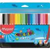 """MAPED Filctoll készlet, 2 mm, kimosható,  """"Color`Peps Ocean"""", 18 különböző szín"""