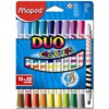 """MAPED Filctoll készlet, mosható, MAPED \""""Color`Peps Duo\"""", 20 különböző szín [10 db]"""