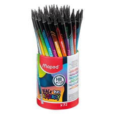"""MAPED Grafitceruza radírral, ceruzatartó, HB, háromszögletű, MAPED """"Black`Peps Energy"""", 6 különböző minta ceruza"""