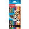 """MAPED Színes ceruza készlet, háromszögletû, MAPED """"Color`Peps Animal"""", 12 különbözõ szín"""